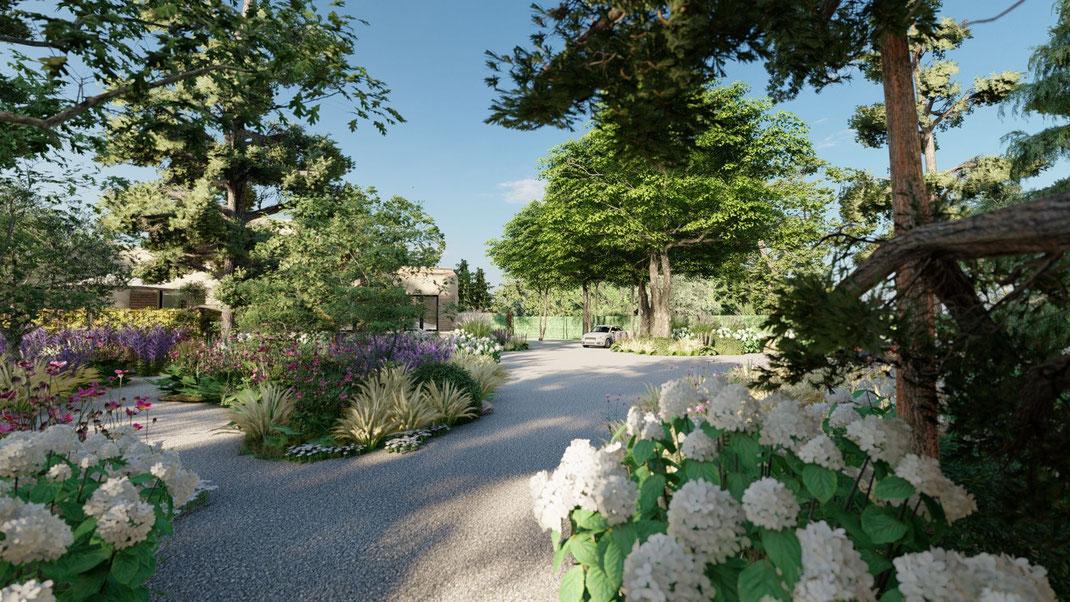 Création d'un jardin méditerranéen à saint maximin la sainte baume
