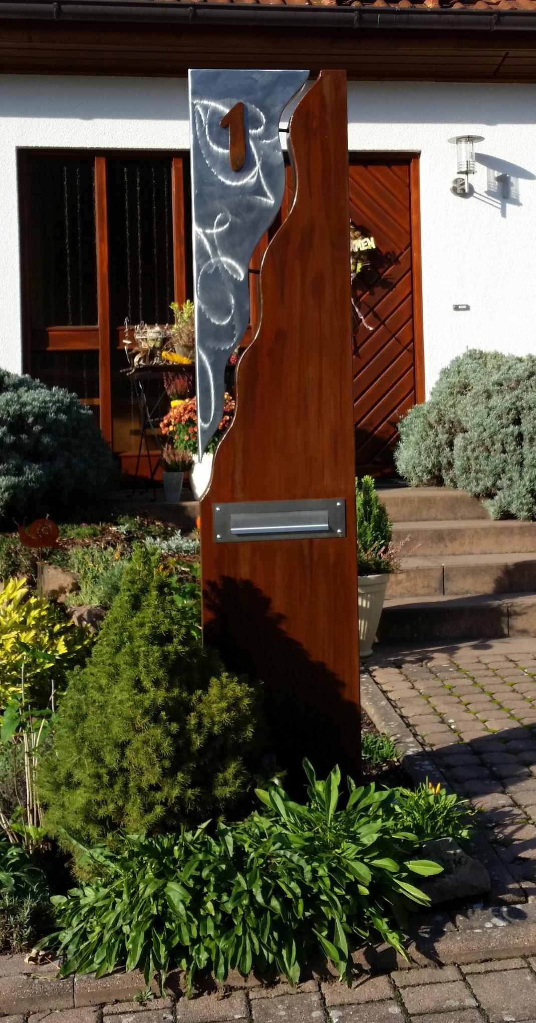 Auftragsarbeiten edelrost gartendeko rost edelstahl for Gartendeko aus stahl
