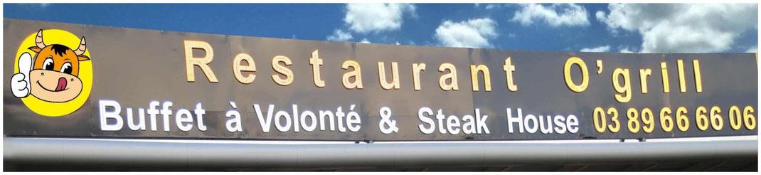 Devanture restaurant O'Grill Morschwiller Buffet à volonté Steak House