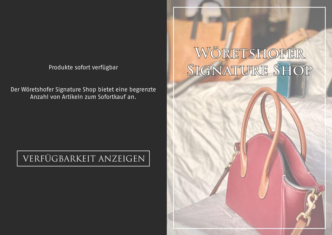 Der Wöretshofer Signature Shop bietet eine begrenzte Anzahl von Artikeln zum Sofortkauf an.