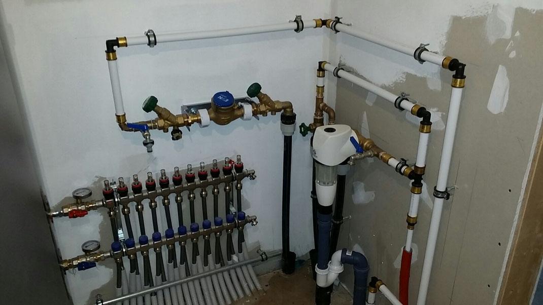 Klein und Busch Wasser Verteilung Verteiler Station