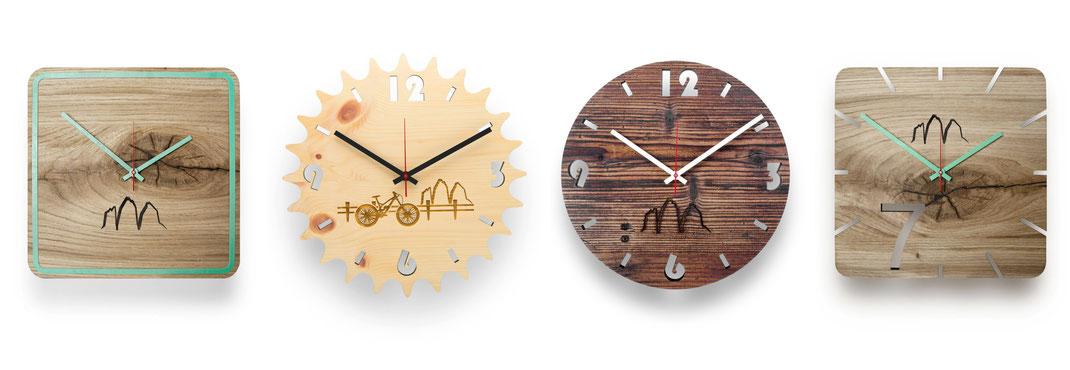 huamet. Holz Wanduhren, Wanduhr aus Holz, Wanduhr modern, Holzwanduhr, Lasergravur, Laserschneiden, Geschenkidee