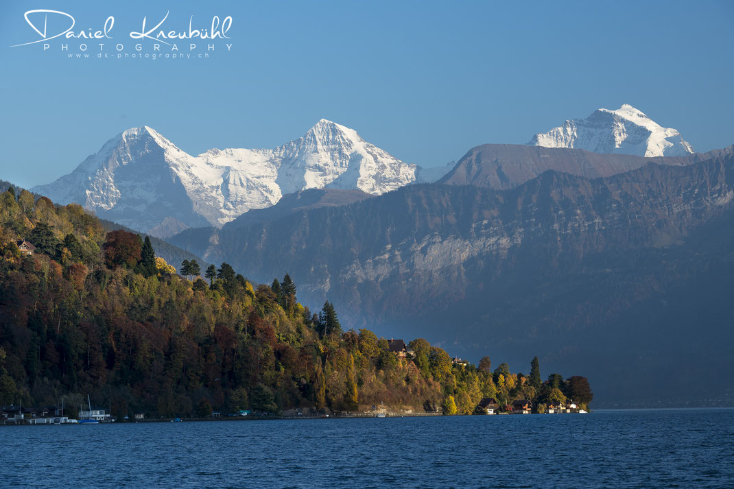 Eiger, Mönch, Jungfrau, Berner Oberland, Thunersee, autumn, Herbst, Switzerland, www.dk-photography.ch, Photographer: Daniel Kneubühl