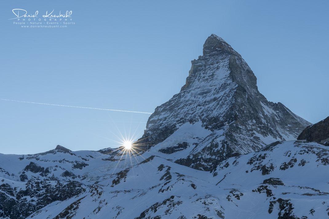 Sonnenuntergang am Matterhorn, Matterhorn, Sonne, Sonnenuntergang, 4478m, Zermatt, Wallis, Schweiz, Switzerland, www.danielkneubuehl.com, Photographer/Fotograf: Daniel Kneubühl