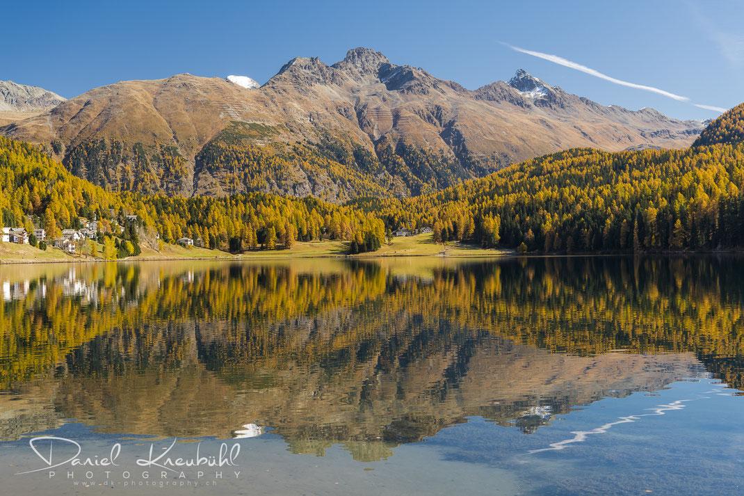 St. Moritz, See, Indian Summer, Herbst, Autumn, www.dk-photography.ch, Photographer: Daniel Kneubühl