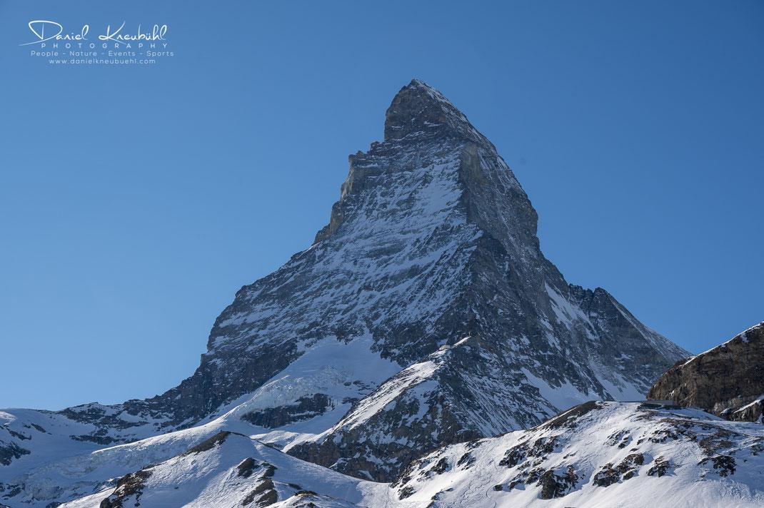 Matterhorn, Sonne, wolkenlos, 4478m, Zermatt, Wallis, Schweiz, Switzerland, www.danielkneubuehl.com, Photographer/Fotograf: Daniel Kneubühl