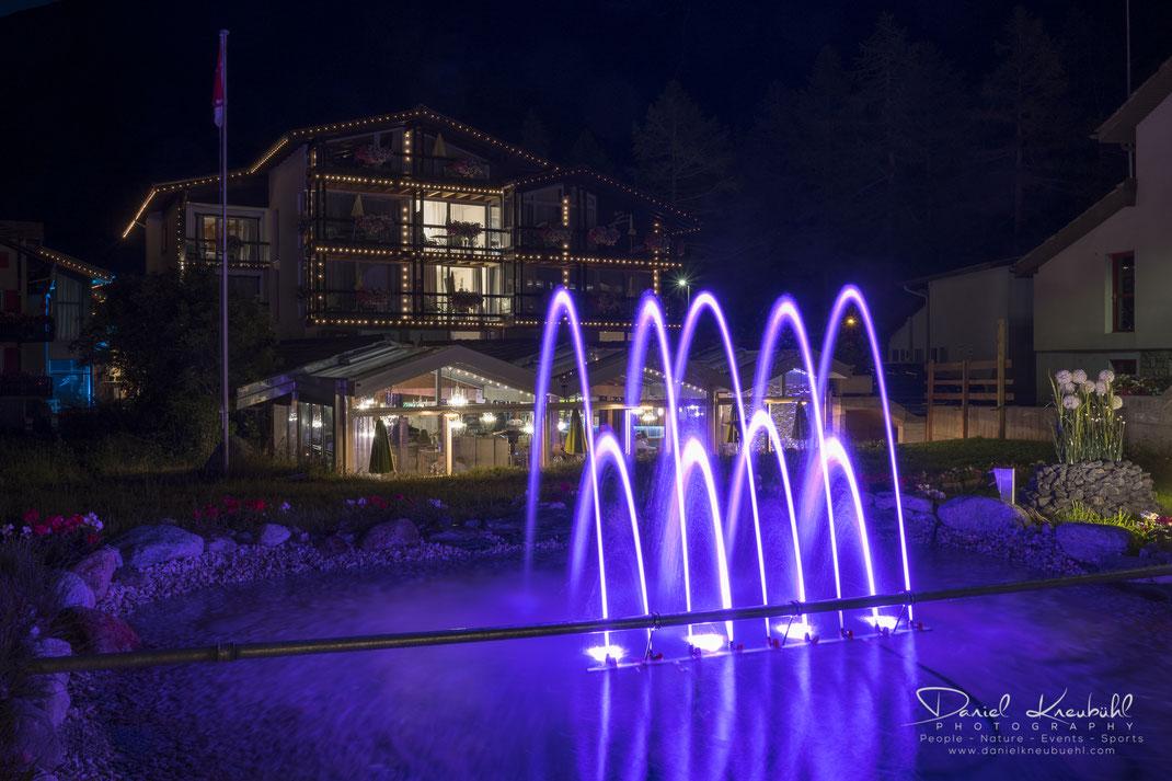 Pool, Wellness, Wellnessgarten, Outdoor, Pirmin Zurbriggen, Hotel, Hotel Pirmin Zurbriggen, Saas-Almagell, by night