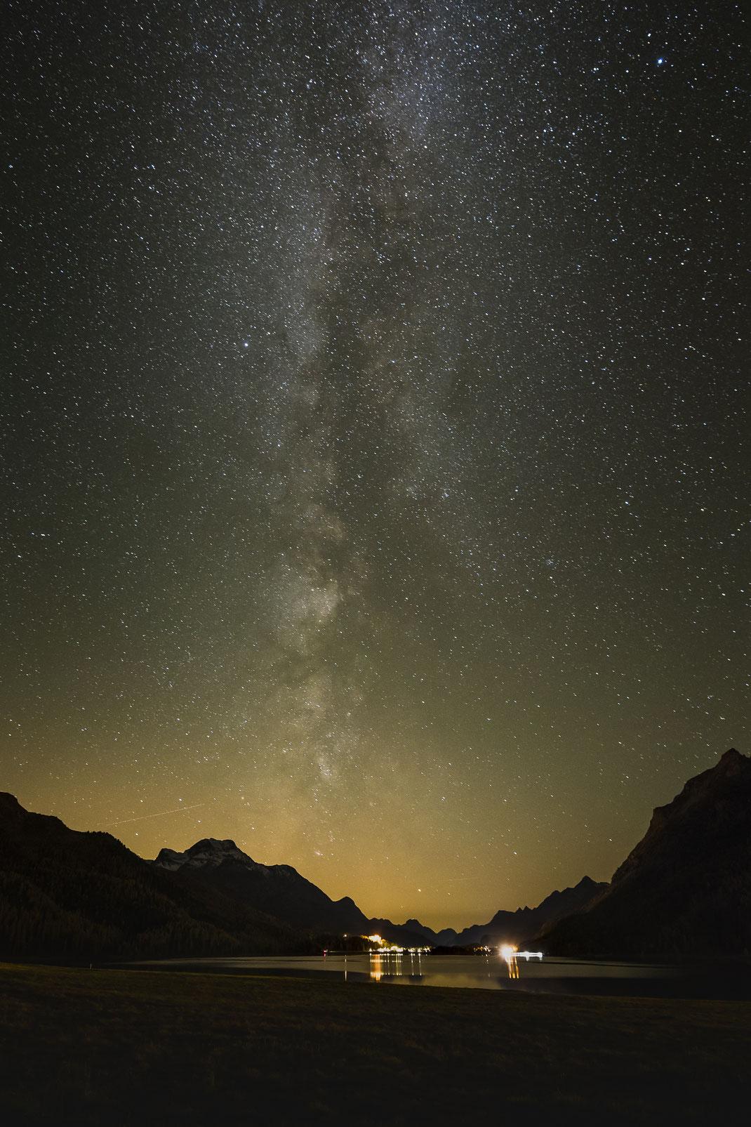 Milchstrasse, Milky Way, Silvaplana, Silvaplanersee, Engadin, Graubünden, Schweiz, www.dk-photography.ch, Photographer: Daniel Kneubühl