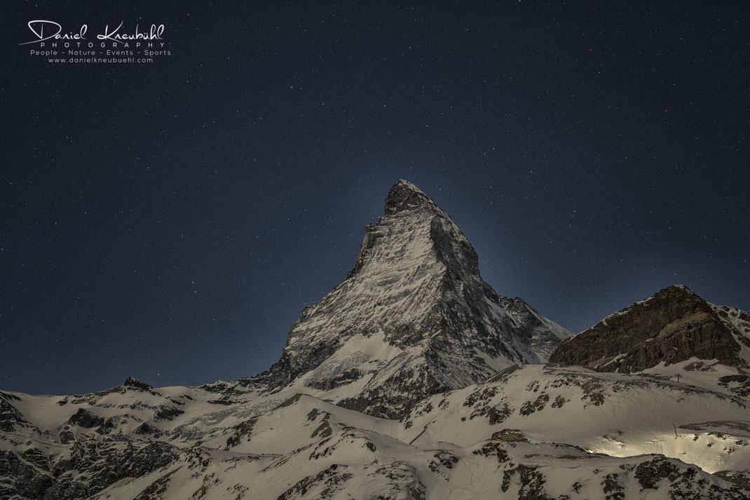 Matterhorn bei Nacht, Matterhorn, Nacht, night, 4478m, Zermatt, Wallis, Schweiz, Switzerland, www.danielkneubuehl.com, Photographer/Fotograf: Daniel Kneubühl