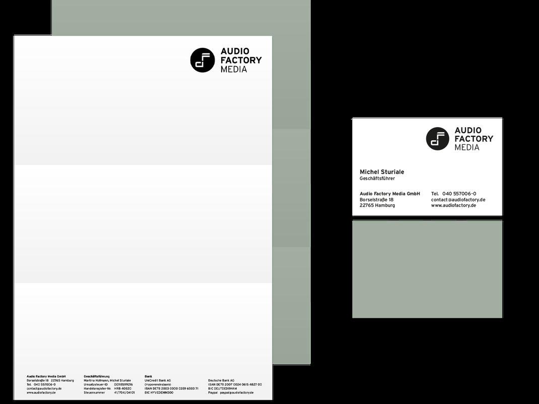 Geschäftsausstattung: Audio Factory Media, von Andreas Ruthemann