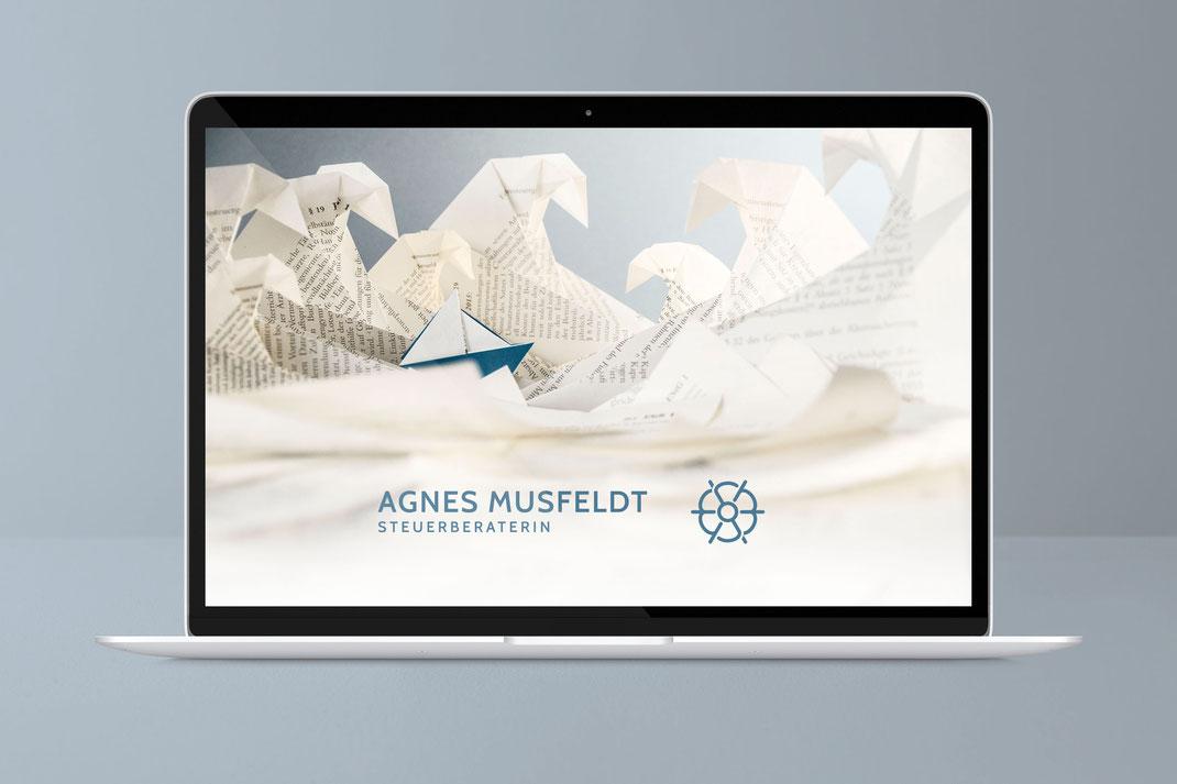 Web und UI Design: Agnes Musfeldt, Steuerberaterin Hamburg , von Andreas Ruthemann