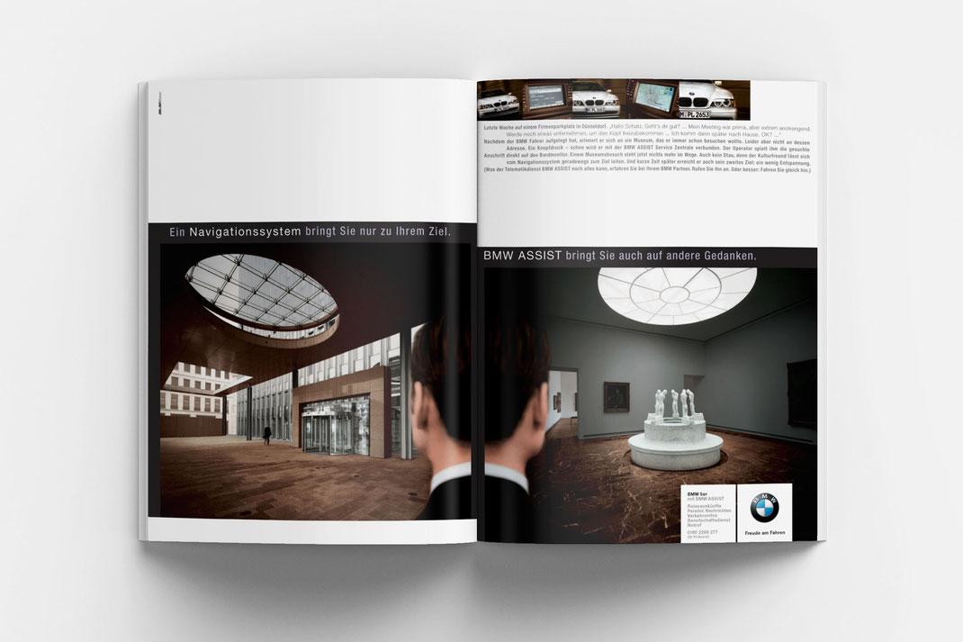 BMW 5er Kampagne, BMW Assist, Art Direktion Andreas Ruthemann