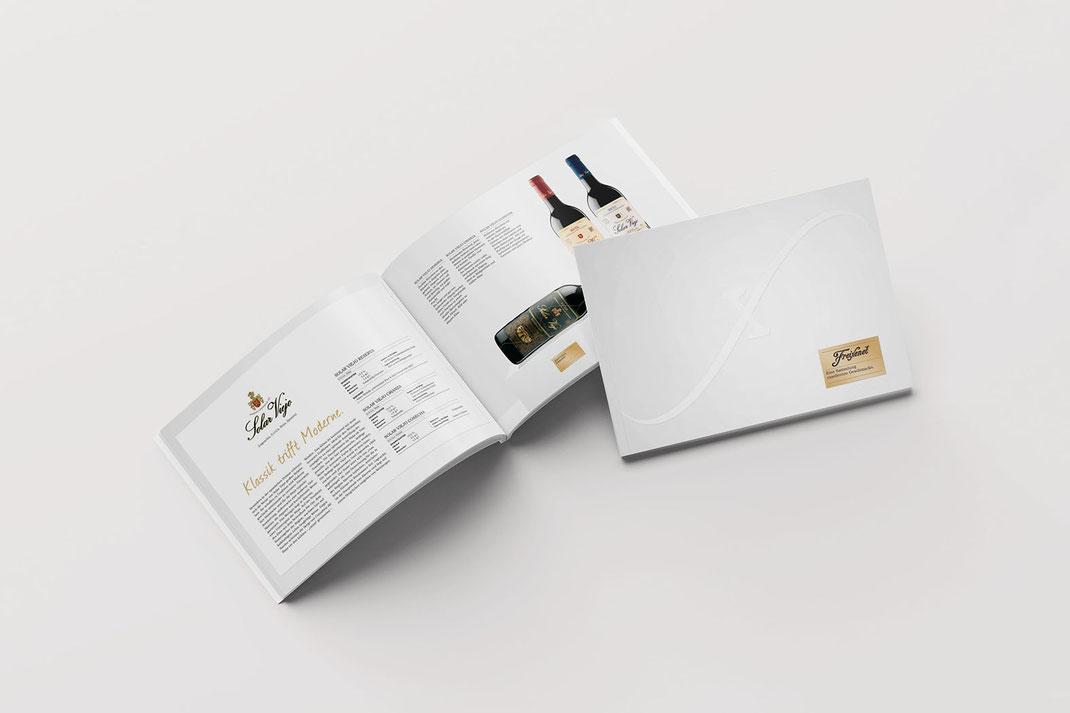 Literatur, Produktbroschüre Design: Freixenet Ferrer Wine Estates, von Andreas Ruthemann