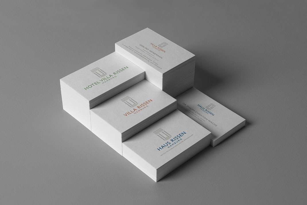 Visitenkarten: Haus Rissen Hamburg, von Andreas Ruthemann