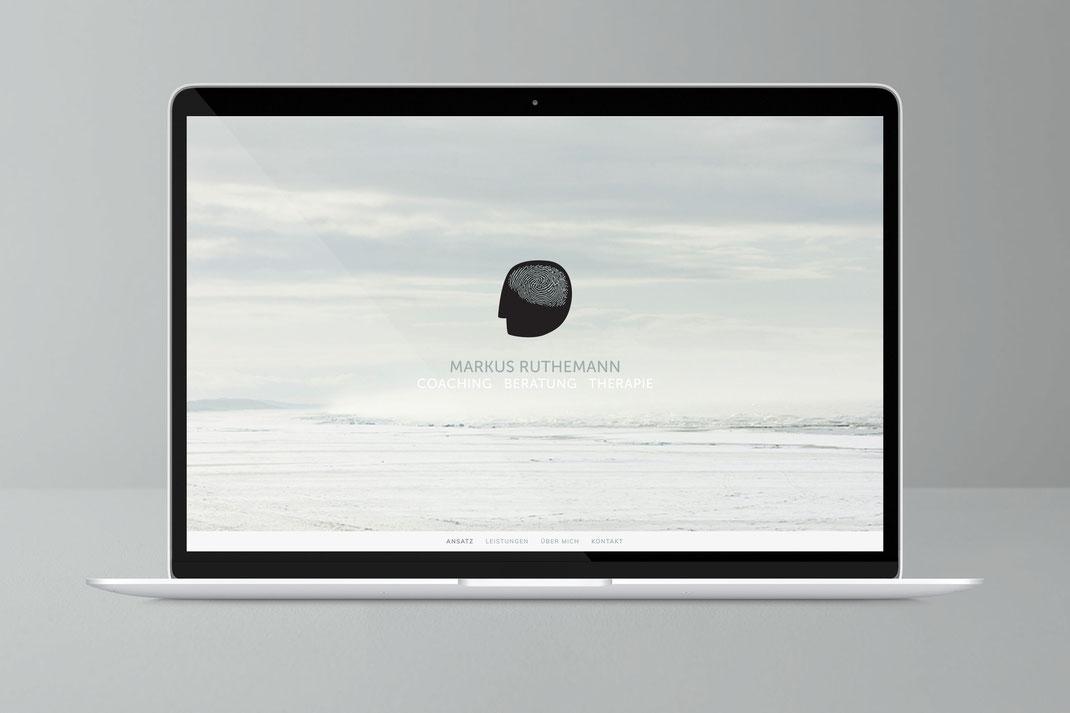 Web und UI Design: Markus Ruthemann Coaching Beratung Therapie, von Andreas Ruthemann