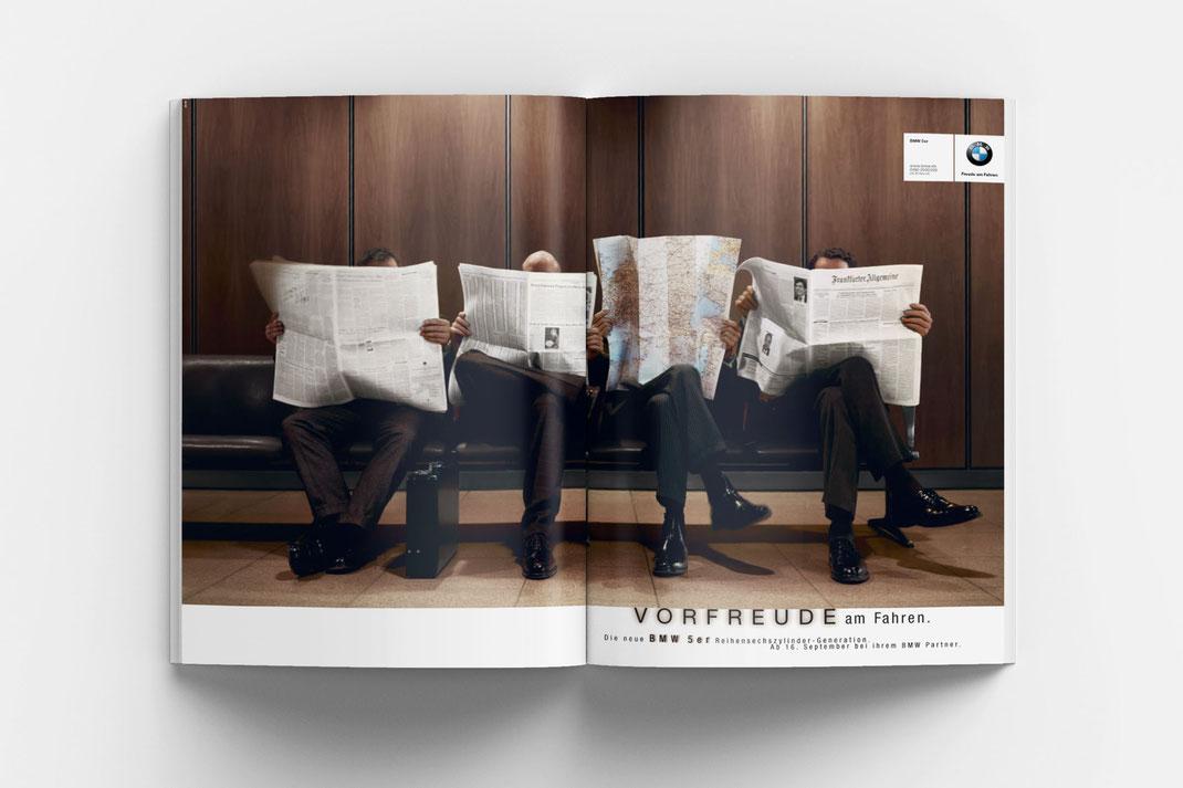 BMW 5er Kampagne, Art Direktion Andreas Ruthemann