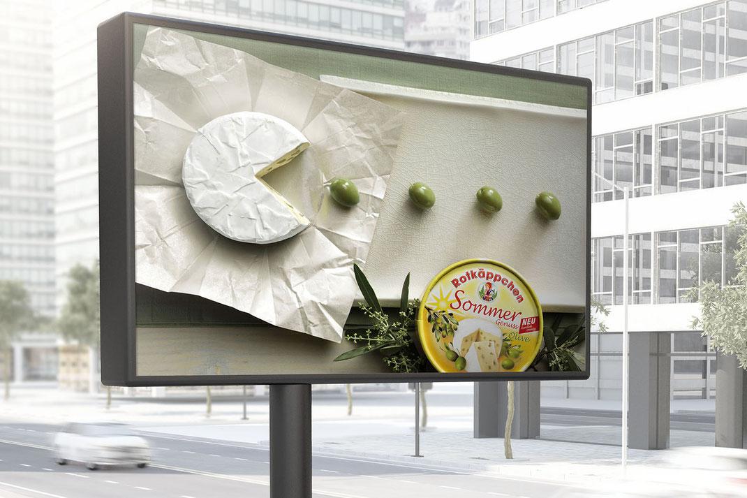 Rotkäppchen Käse Plakat Kampagne, Art Direktion Andreas Ruthemann