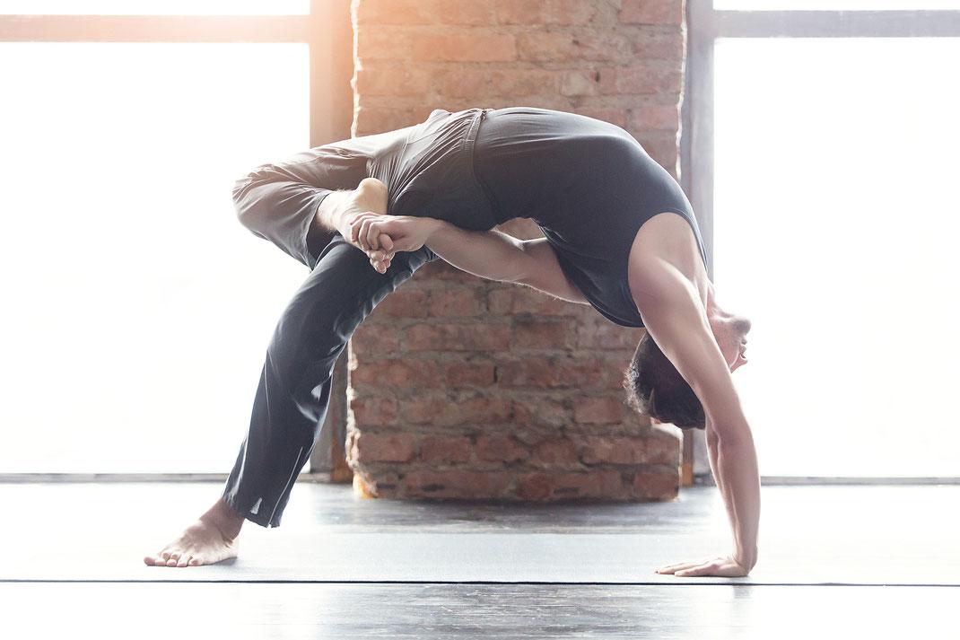Yoga für den Mann für Kraft, Beweglichkeit, Flexibilität und Achtsamkeit