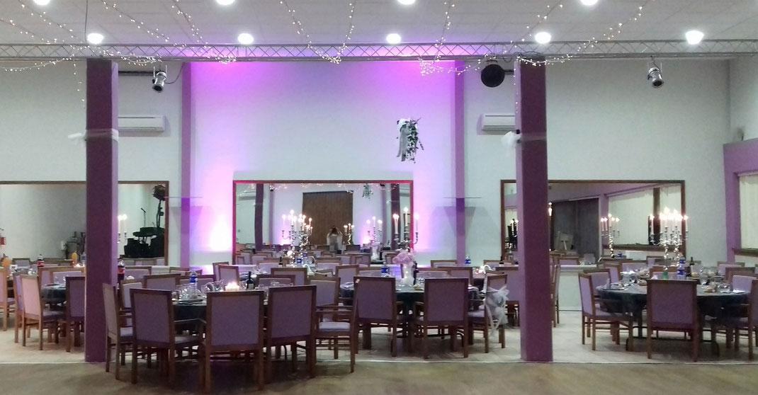 Installation décoration bougeoirs et lumières