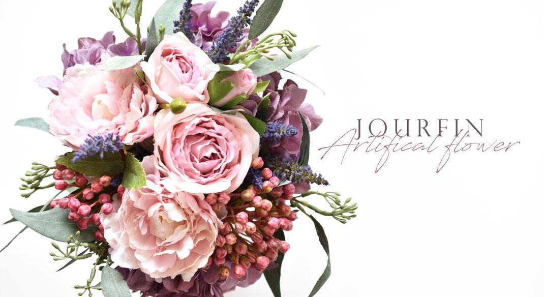JourFin アーティフィシャルフラワー フラワー フラワーアレンジメント  アレンジメント フラワーレッスン 資格取得  フラワー制作 クラフト レッスン ハンドメイド お花 リボン りぼん