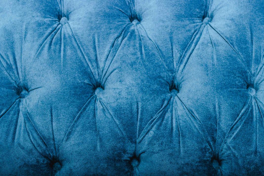 MÖBELLOFT Design Sofa RANGEROVER: Samt, Petrol, Einzigartig