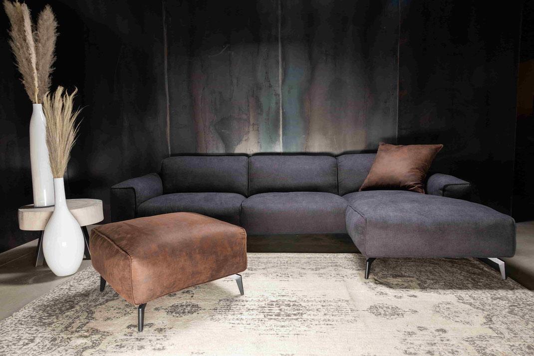 MÖBELLOFT Design Sofa HIMMEL als Einzelsofa, Ecksofa oder Wohnlandschaft frei zu knofigurieren in verschiedenen Größen, Bezügen und Farben