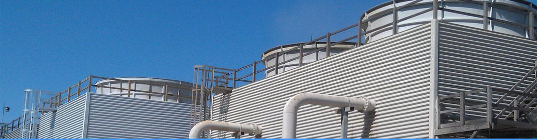 Sistema de distribución de agua de torre de enfriamiento