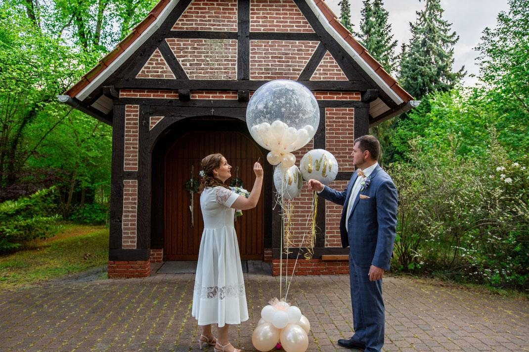 kleine Überraschung für das Brautpaar