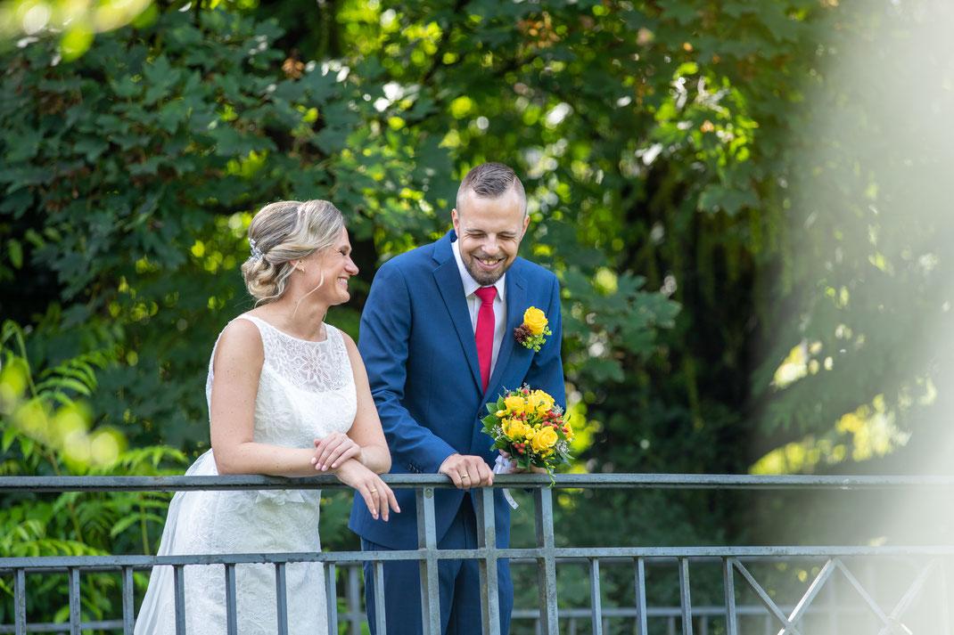 Spaß beim Brautpaarshootings