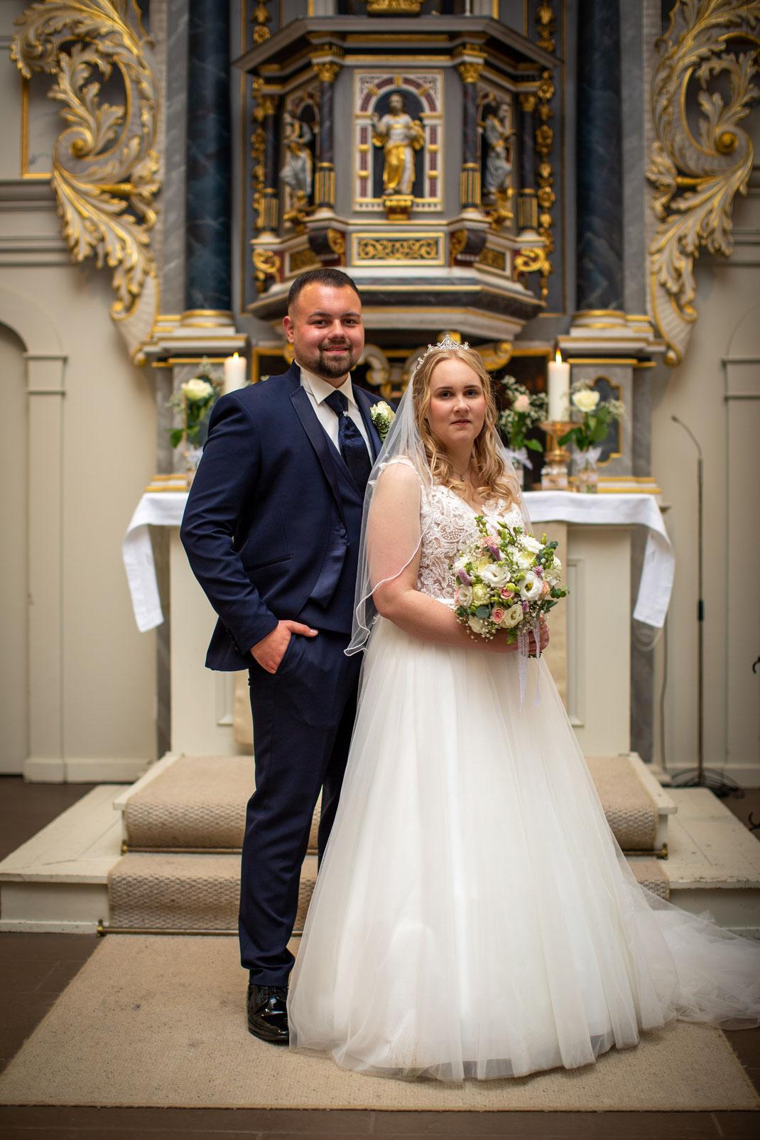 Das Brautpaar nach der Vermählung