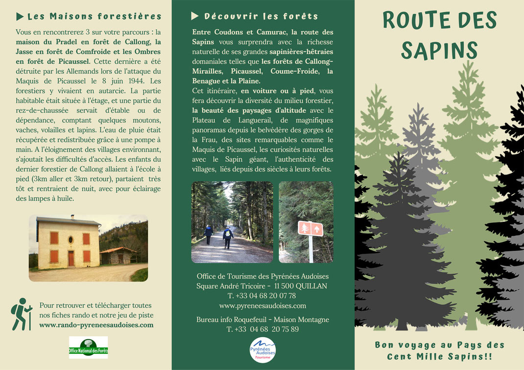 Carte de la Route des Sapins