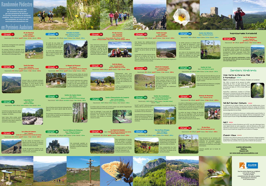 Déscriptif des sentiers de randonnée des Pyrénées Audoises
