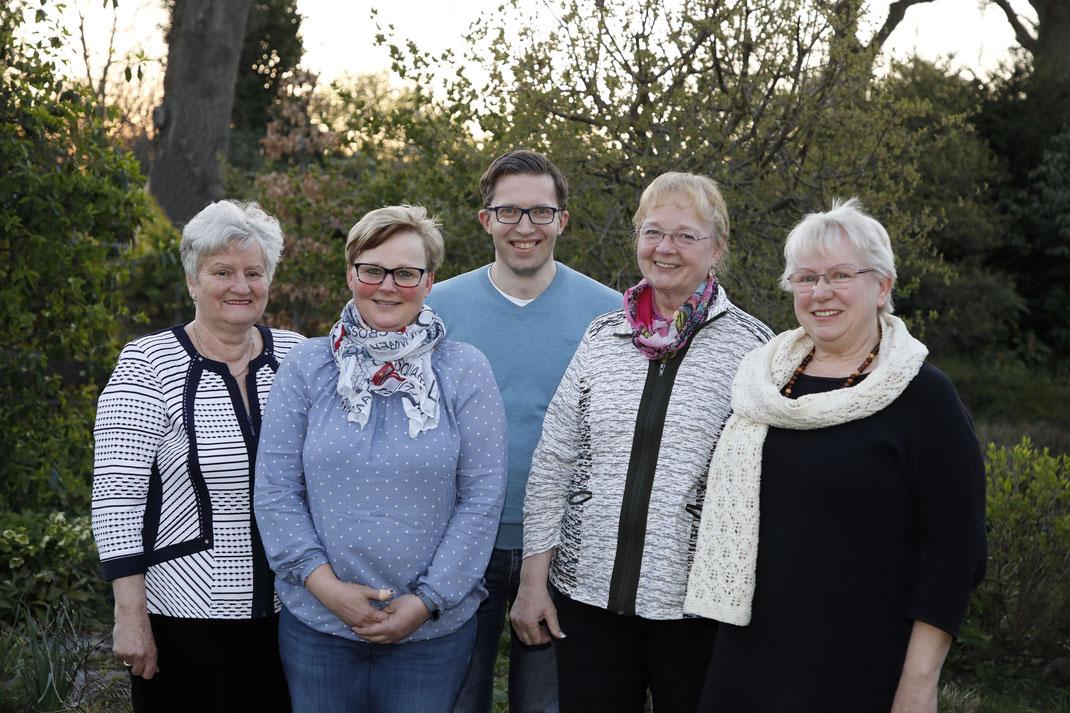 Von links: Karin Böhnel, Daniela Jahnke, Frank Gierschner, Isolde Bree, Annemarie Goese-Wieland