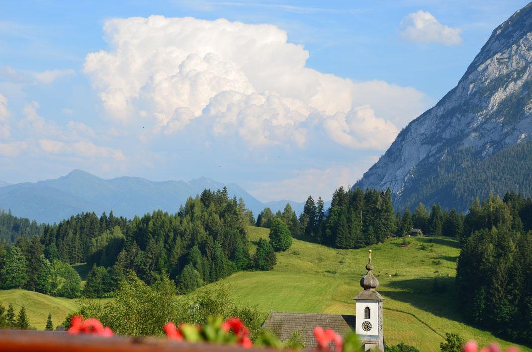 Blick vom Balkon, Hotel Schwaiger