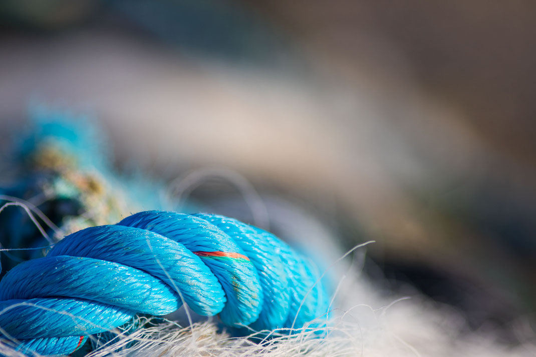 Fischernetz in Barneville-Carteret in der Normandie.