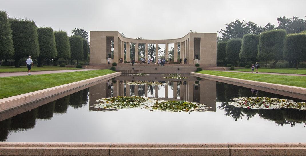 Amerikanischer Soldatenfriedhof in Colleville-sur-Mer, Calvados, Normandie.