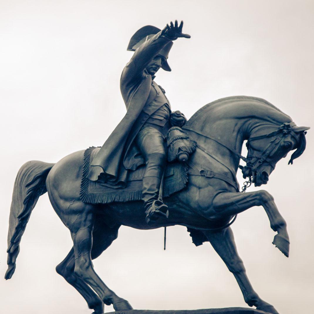 Napoleon-Statue in Cherbourg in der Normandie