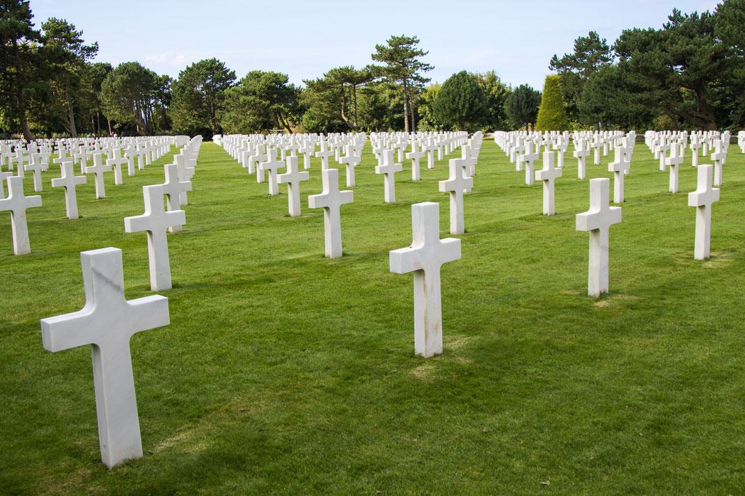 Der amerikanische Soldatenfriedhof in Colleville sur Mer, Calvados, Normandie