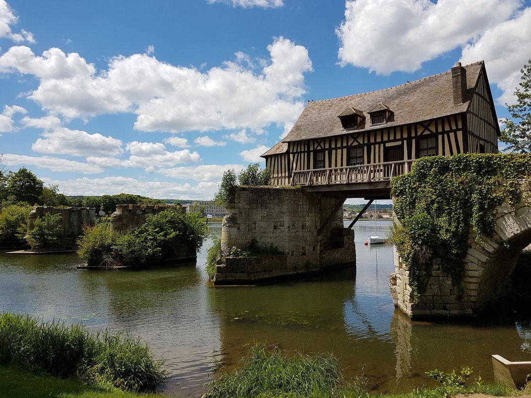 Die alte Mühle in Vernon in der Normandie (23.06.2027)