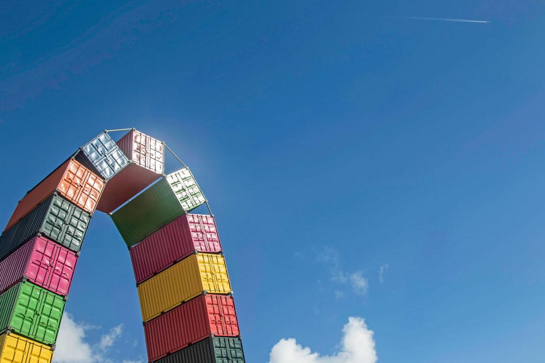 Kunstwerk in Le Havre in der Normandie