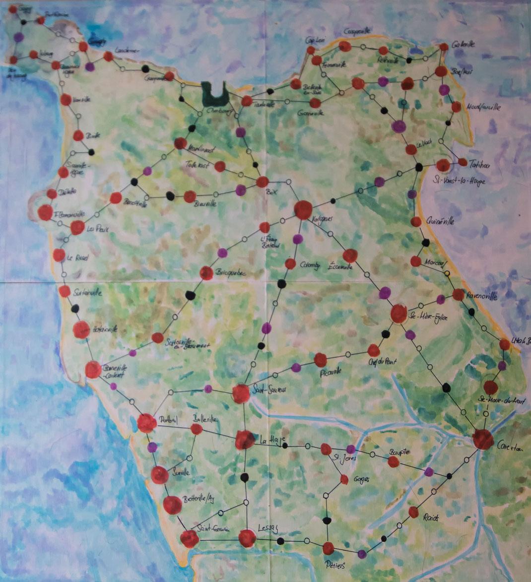 Spielplan Spiel Cotentin Reise