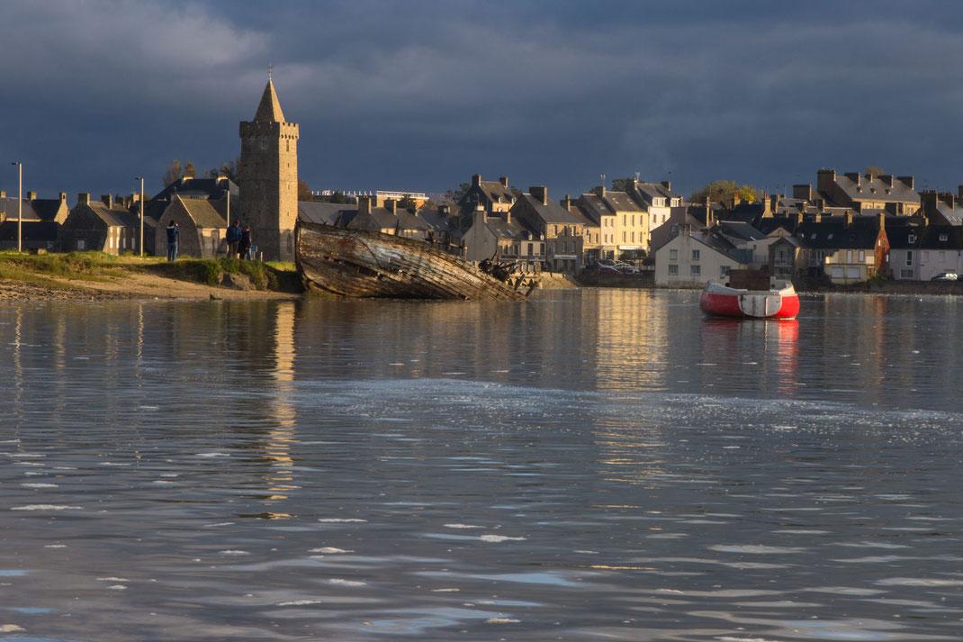Portbail in der Normandie mit Hocvhwasser im Havre.