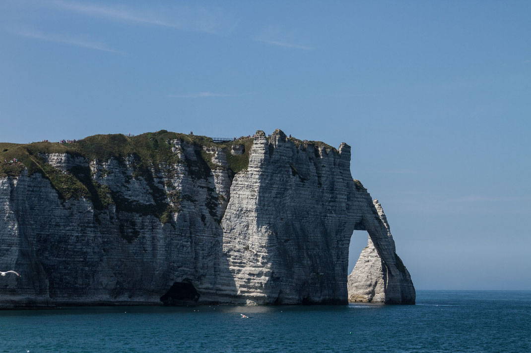 Kreidefelsen in Etretat in der Normandie