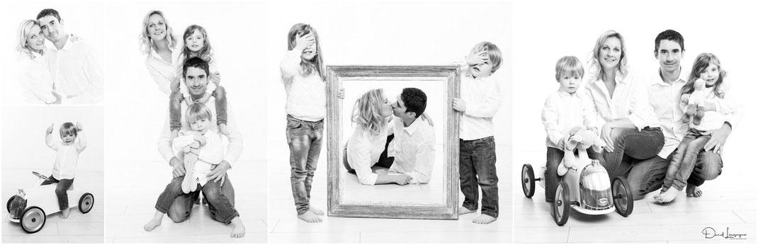 séance photo de famille; enfants et parents en studio dans l'oise aux portes du val d'oise