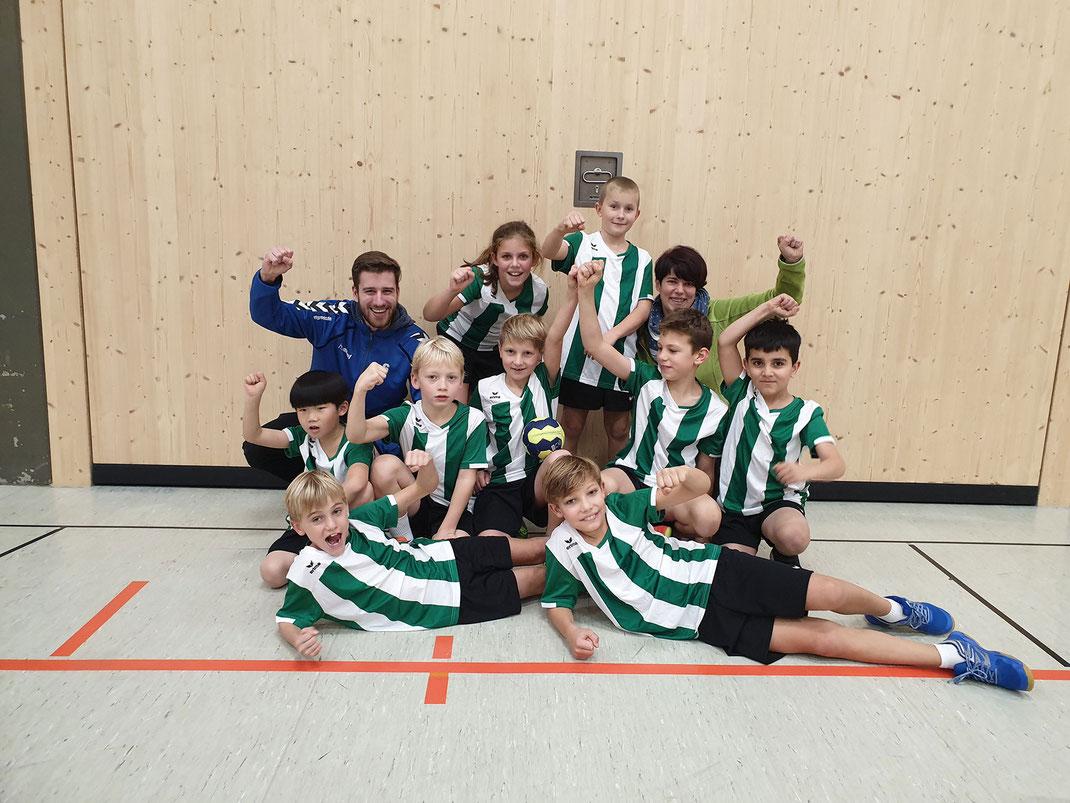 Die Steinenbergschule nimmt an der Handball-Grundschulliga teil