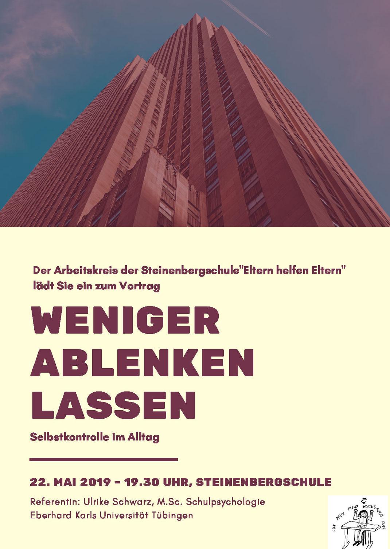 Vortrag in der Steinenbergschule am 22.05.2019