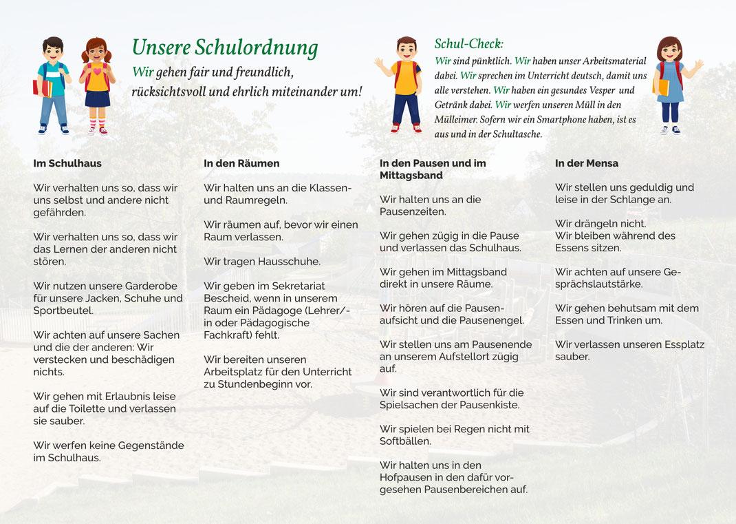 Schulordnung der Steinenbergschule Stuttgart-Hedelfingen