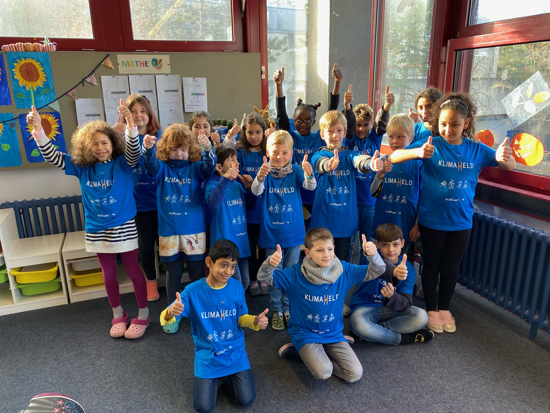 Klimahelden der Steinenbergschule in Stuttgart-Hedelfingen