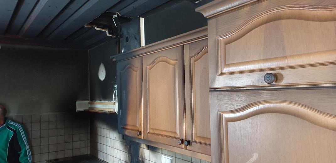 Brand Küche am 6.11.2019