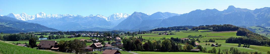 Panorama Gerzensee - Mühledorf - Kirchdorf